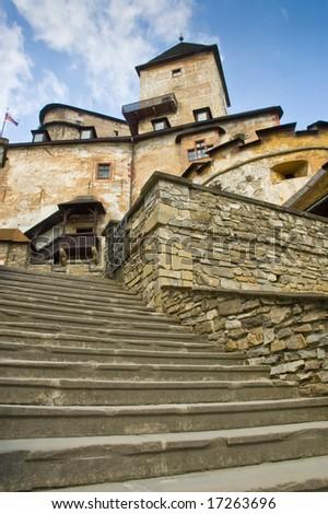 Castle in Oravsky Podzamok - stock photo