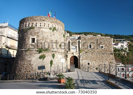 Castle in Pizzo, Italy, Calabria - stock photo