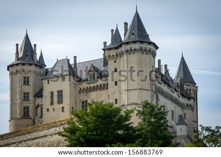 Castle in Saumur, France
