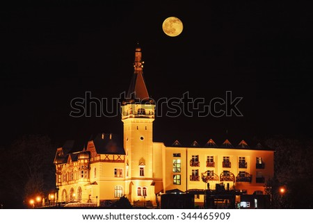 Castle in the Night - stock photo