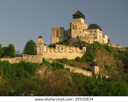 Castle in Trencin at day, Slovakia (Europe)
