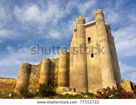 Castle in Valencia de Don Juan, Leon, Spain - stock photo