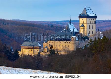 castle Karlstejn - stock photo