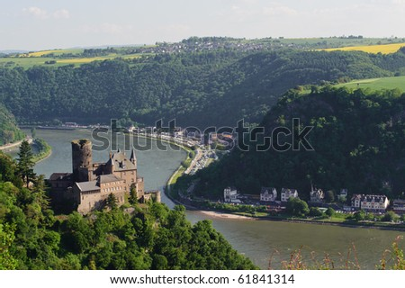 Castle Katz in Germany - stock photo