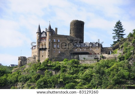Castle Katze at Rhine Valley in Germany - stock photo