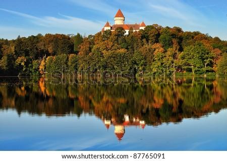 Castle Konopishte. Czech republic - stock photo