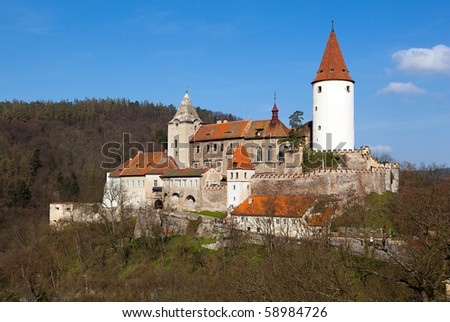 castle Krivoklat - stock photo