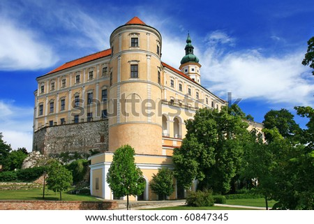 castle mikulov, czech republic