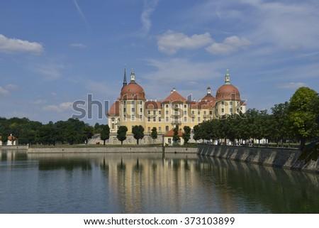 Castle Moritzburg in saxon - stock photo