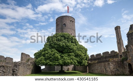 castle muenzenberg hessen germany