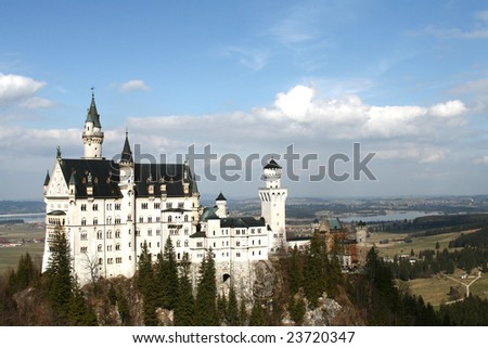 castle Neuschwanschtein - stock photo