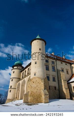 Castle Nowy Wisnicz in Poland - stock photo