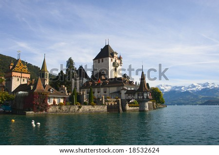 Castle Oberhofen on Thunersee