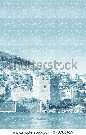 castle of Alanya - stock photo