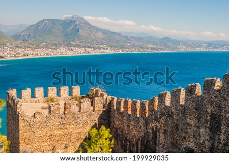 castle of Alanya, Antalya, Turkey - stock photo