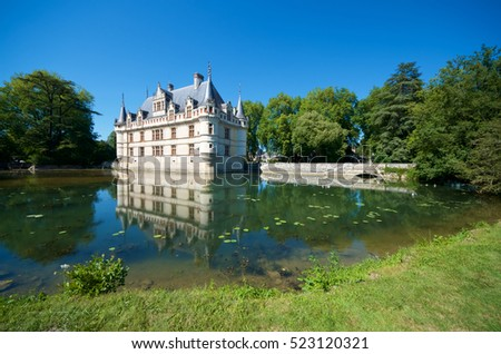 Castle of azay le rideau loire valley france built in the 16th century