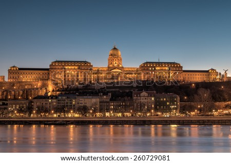 Castle of Budapest - stock photo