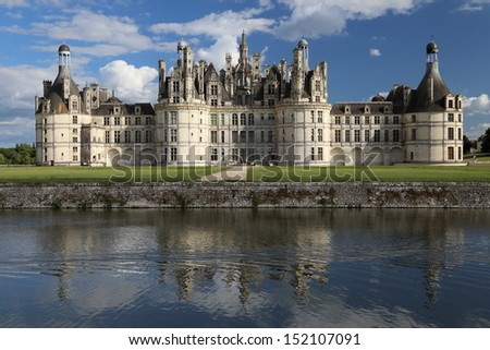 Castle of Chambord, Pays-de-la-Loire, France - stock photo