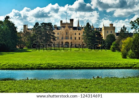 castle of Lichtenstein - stock photo