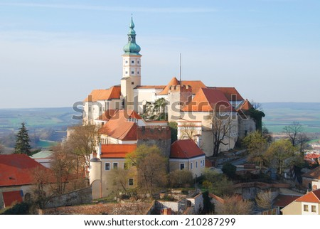 Castle of Mikulov, South Moravia, Bohemia, Czech Republic