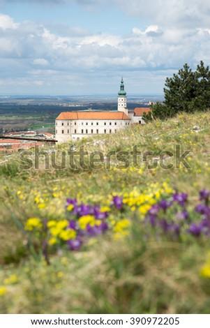 Castle of Mikulov, South Moravia, Bohemia, Czech Republic - stock photo