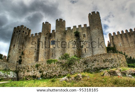 Castle of Obidos a medieval village in portugal