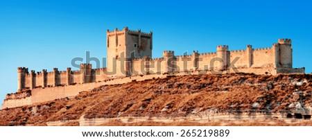Castle of Penafiel, Valladolid, Spain - stock photo