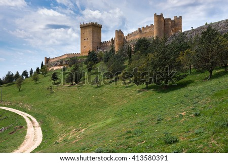 Castle of Penaranda de Duero, Burgos (Spain) - stock photo