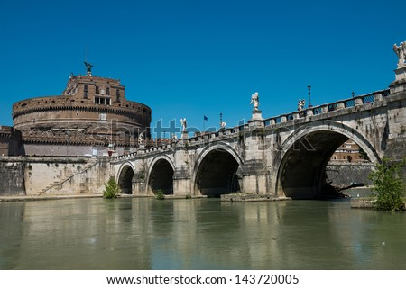Castle of Saint Angel. Rome - stock photo