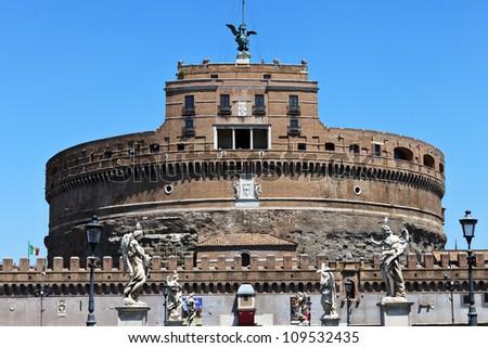 Castle of Saint Angel. Rome. Italy. Europe. - stock photo
