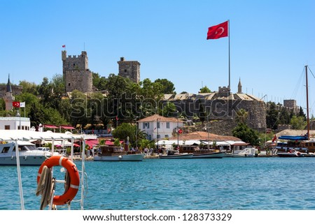 Castle of Saint Peter in Bodrum, Turkey - stock photo