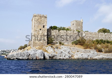 Castle of Saint Peter in Bodrum, Turkey - stock photo
