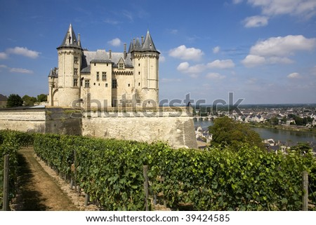 Castle of Saumur in the Loire's Valley, France