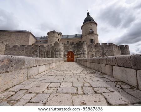 Castle of Simancas, Valladolid , Spain - stock photo