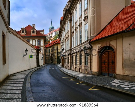 Castle of the old city - stock photo