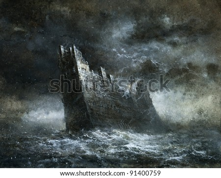 Castle of the Sea - stock photo