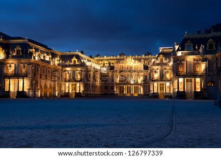 Castle of Versailles, Ile de France, France - stock photo