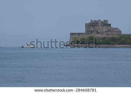 Castle on the lake Ontario
