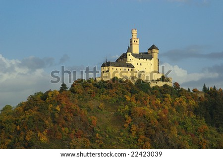 Castle on top of hill - stock photo