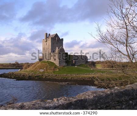 Castle on west coast of Ireland - stock photo