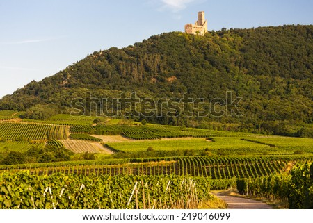 castle Ortenbourg, Alsace, France - stock photo