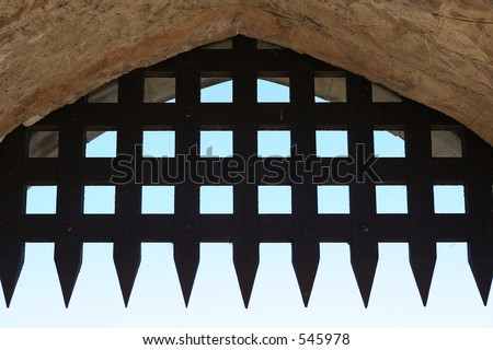 Castle portcullis - stock photo