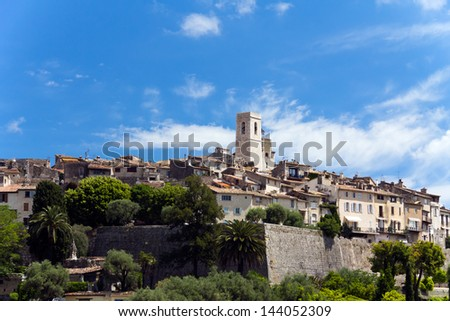 Castle, Provence, France-St Paul - stock photo