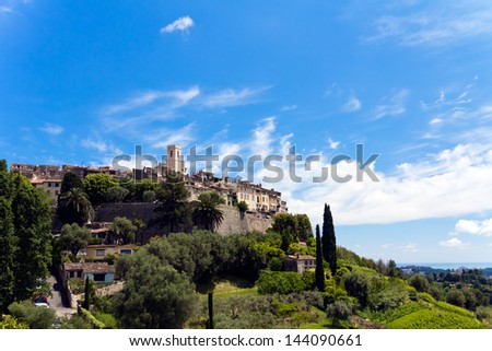 Castle, Provence, France-St Paul - stock photo