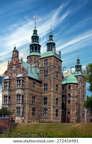 Castle Rosenborg, Copenhagen, Denmark - stock photo