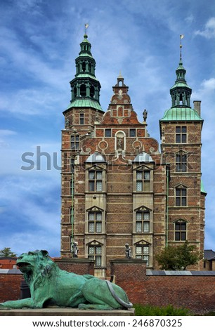 Castle Rosenborg Slot, Copenhagen, Denmark. - stock photo