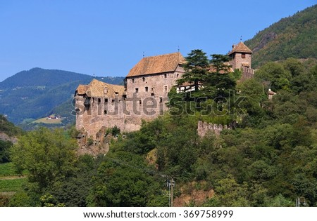 castle Runkelstein in Alto Adige, Bolzano - stock photo