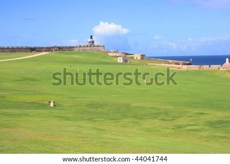 Castle, San Juan - stock photo