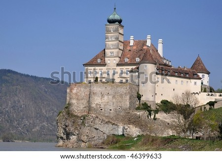 Castle Schonbuhel on Danube,Austria - stock photo