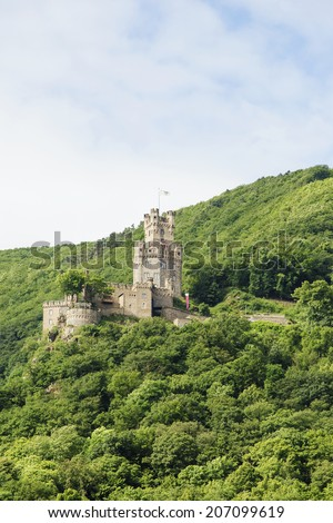 "Castle ""Sooneck"" Rhine river valley, Germany - stock photo"